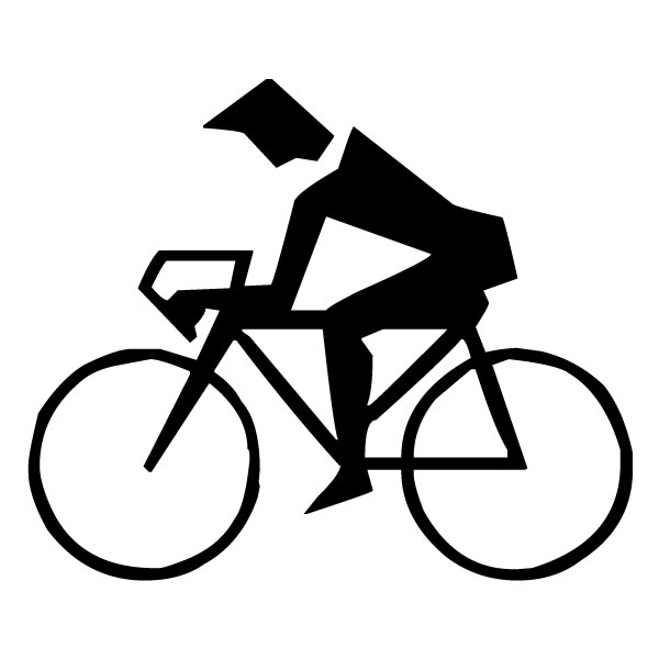 Abstract Bicyclist B LAK 2 2 t Sports Wall Decal