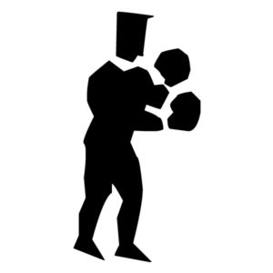 Abstract Boxer A LAK 2 2 q Sports Wall Decal
