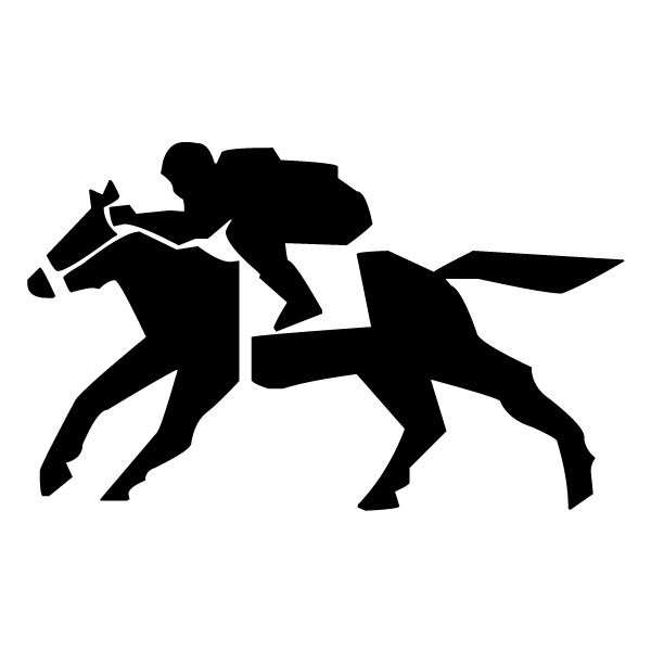 Abstract Equestrian B LAK 2 2 l Sports Wall Decal
