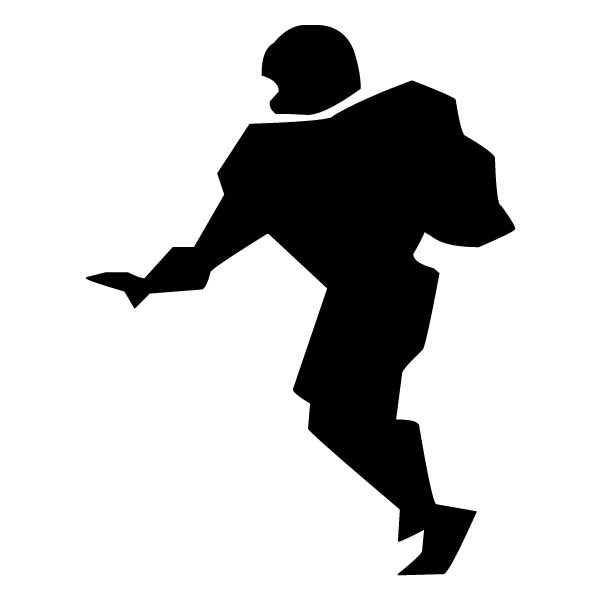 Abstract Football Player B LAK 2 2 b Sports Wall Decal