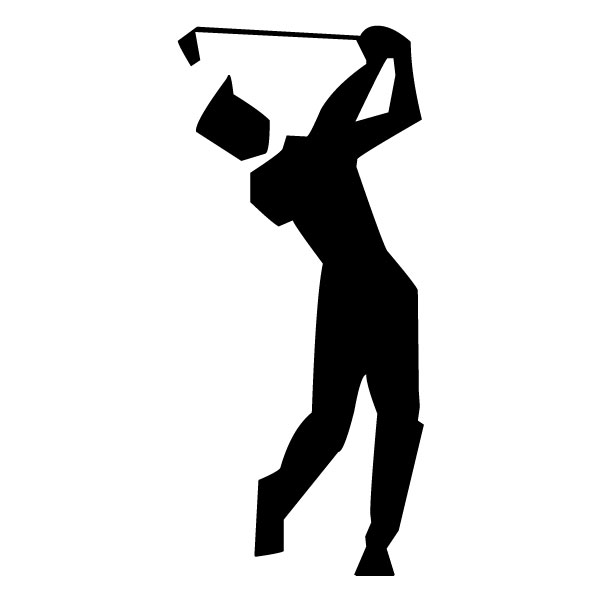 Abstract Golfer A LAK 2 2 c Sports Wall Decal