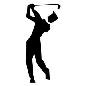 Abstract Golfer B LAK 2 2 d Sports Wall Decal
