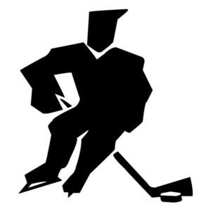 Abstract Hockey Player A LAK 2 2 e Sports Wall Decal