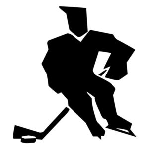 Abstract Hockey Player B LAK 2 2 f Sports Wall Decal