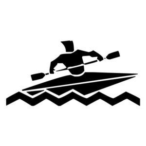 Abstract Kayaker A LAK 2 2 i Sports 2 Wall Decal