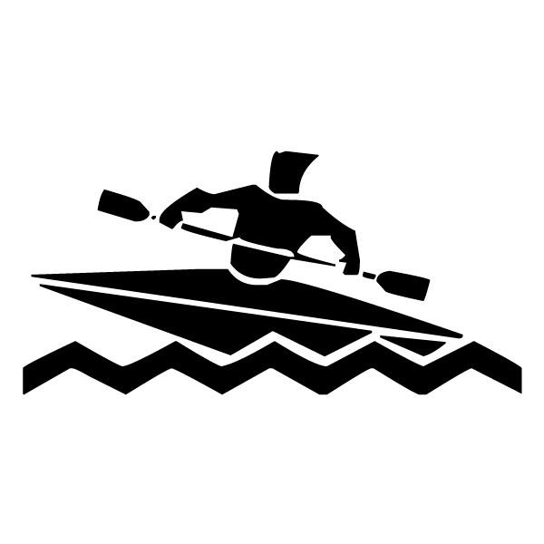 Abstract Kayaker B LAK 2 2 j Sports Wall Decal