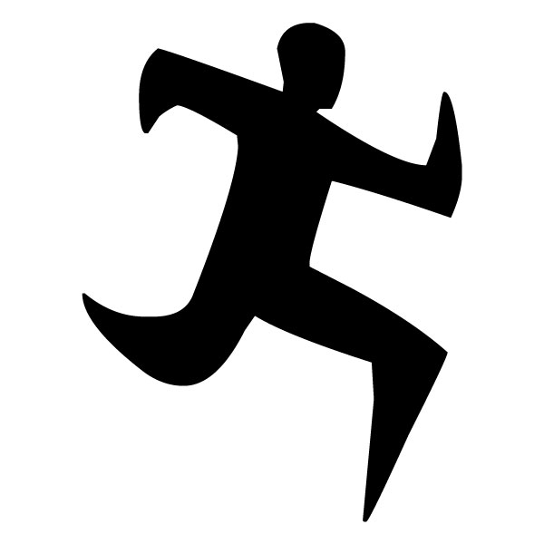 Abstract Runner A LAK 2 3 6 Sports Wall Decal