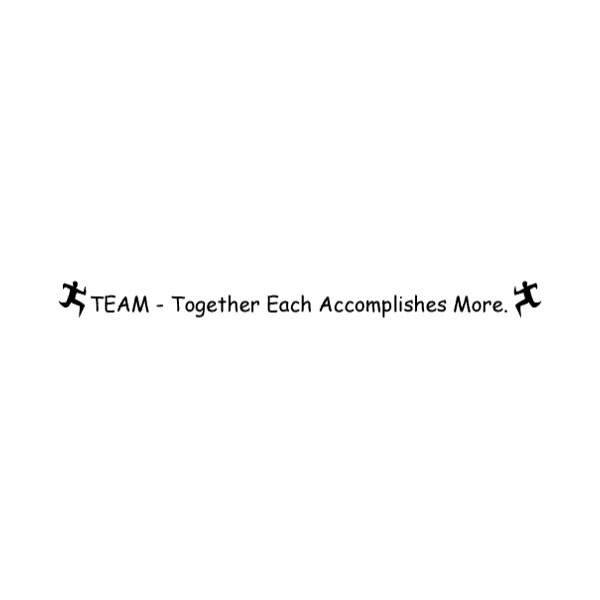 TEAM Together Each Wall Decal