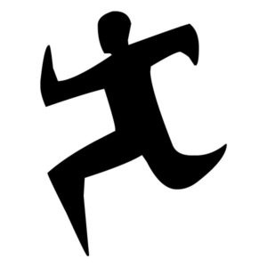Abstract Runner B LAK 2 3 7 Sports Wall Decal