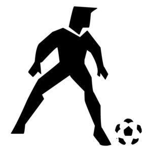 Abstract Soccer Player A LAK 2 2 m Sports Wall Decal