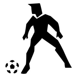 Abstract Soccer Player B LAK 2 2 n Sports Wall Decal