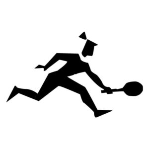 Abstract Tennis Player A LAK 2 2 u Sports Wall Decal