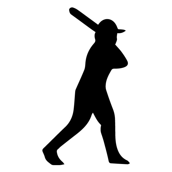 Baseball Player A LAK 2 S Sports Wall Decal