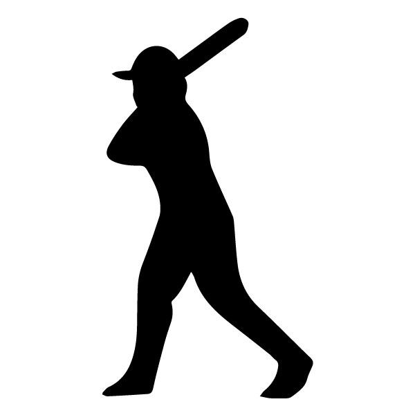 Baseball Player B LAK 2 T Sports Wall Decal