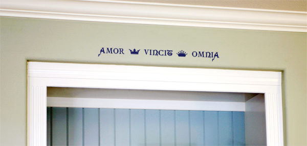 Amor Vincit Omnia Wall Decal