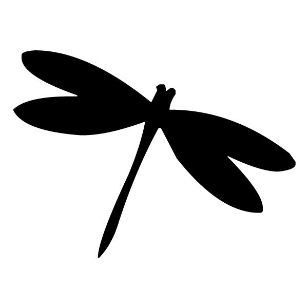 Dragonfly Lettering Art 4 7 Wall Decal