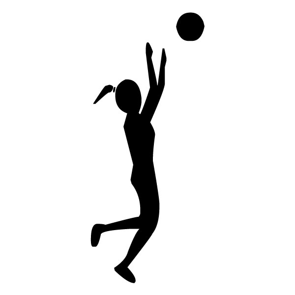 Female Volleyball Player A LAK 2s Sports Wall Decal