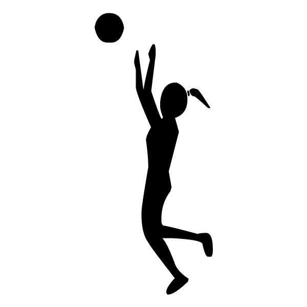 Female Volleyball Player B LAK 2t Sports Wall Decal