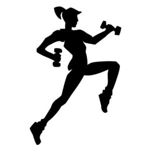 Female with Weights A LAK 2 2 0 Sports Wall Decal