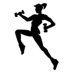 Female with Weights B LAK 2 2 1 Sports Wall Decal