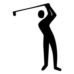 Golfer A LAK 2 O Sports Wall Decal