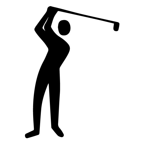 Golfer B LAK 2 P Sports Wall Decal
