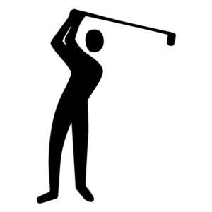Golfer B LAK 2 P Sports Wall Decal