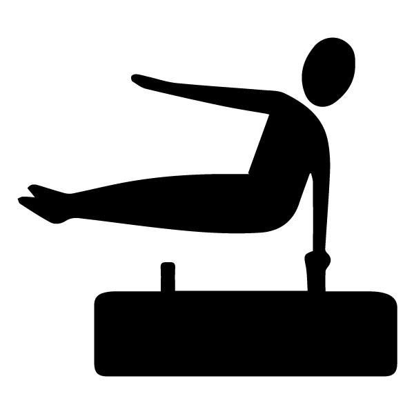 Gymnast 1B LAK 2 J Sports Wall Decal
