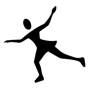 Ice skater B LAK 2 X Sports Wall Decal