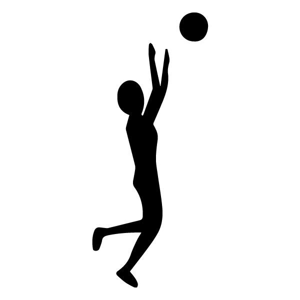 Male Volleyball Player 1A LAK 2u Sports Wall Decal