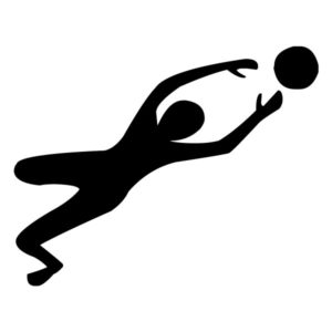 Male Volleyball Player 2A LAK 2w Sports Wall Decal