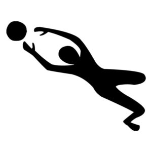 Male Volleyball Player 2B LAK 2x Sports Wall Decal