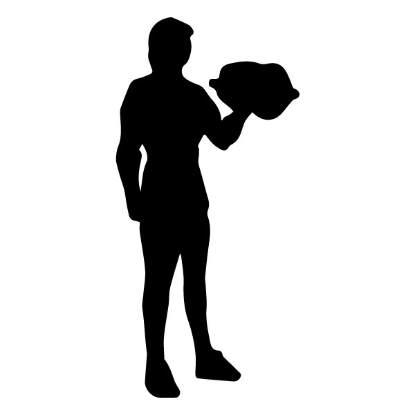 Man with Weights 1A LAK 2 2 O Sports Wall Decal