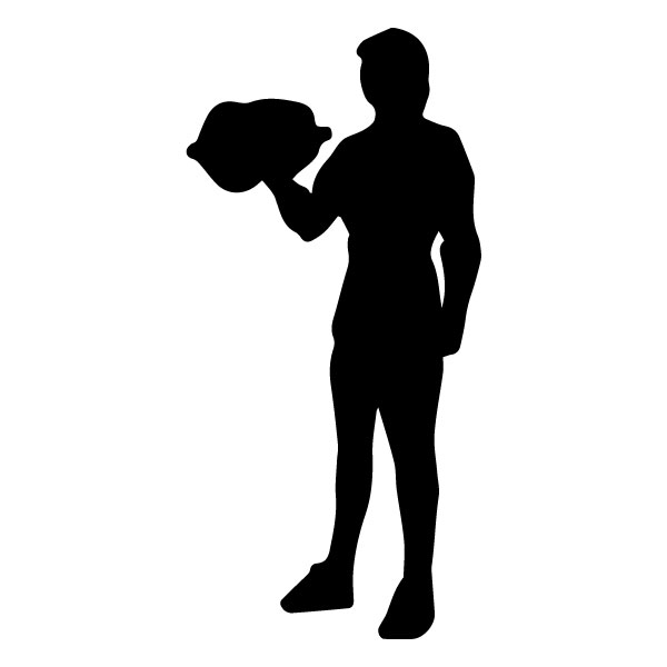 Man with Weights 1B LAK 2 2 P Sports Wall Decal