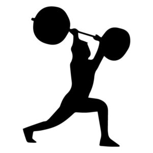 Man with Weights 2A LAK 2 2 Q Sports Wall Decal