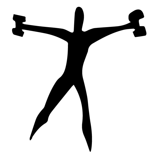 Man with Weights 3A LAK 2 2 S Sports Wall Decal