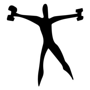 Man with Weights 3B LAK 2 2 T Sports Wall Decal