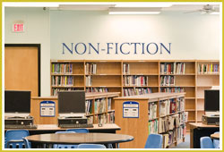 Non-Fiction Signage at School Library