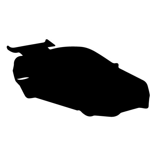 Race Car silhouette 6A LAK 5 A Racing Wall Decal