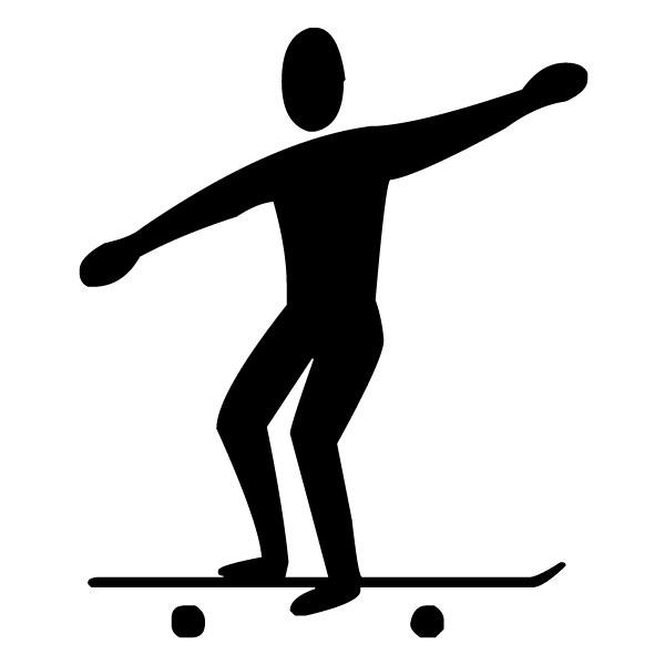Skate boarder B LAK 2 l Sports Wall Decal