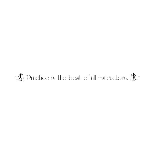 Practice is the Wall Decal
