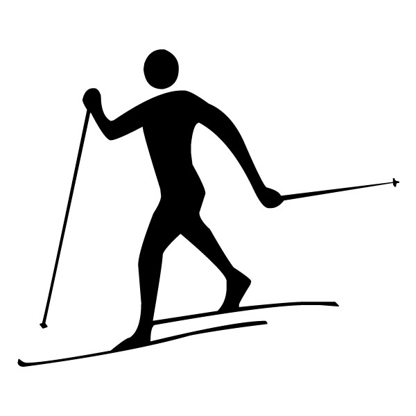 Skier 1B LAK 2 7 Sports Wall Decal