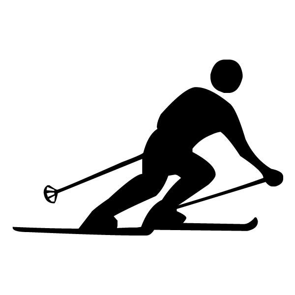 Skier 2A LAK 2 8 Sports Wall Decal