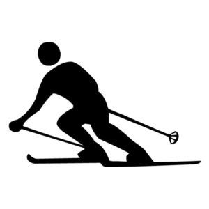Skier 2B LAK 2 9 Sports Wall Decal