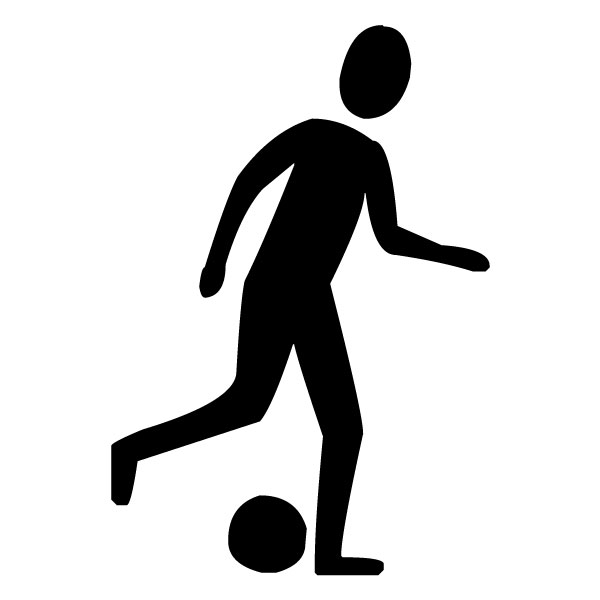 Soccer Player A LAK 2 g Sports Wall Decal