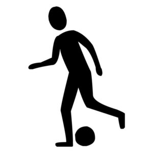 Soccer Player B LAK 2 h Sports Wall Decal