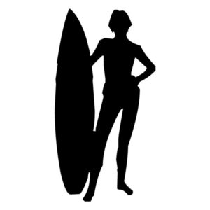 Surfer 1A LAK 28 2 Surfing Wall Decal