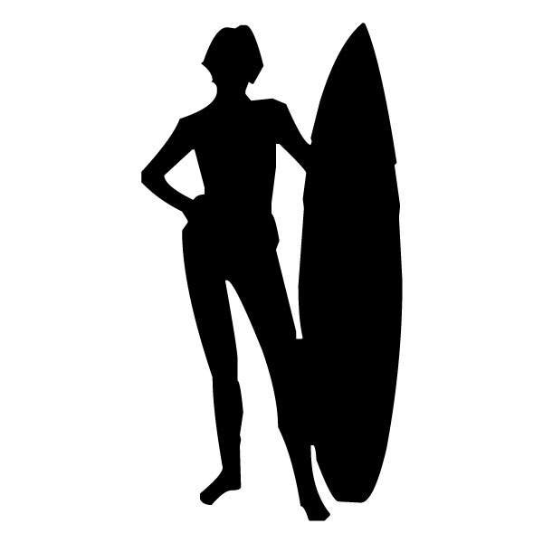 Surfer 1B LAK 28 3 Surfing Wall Decal