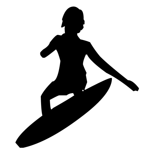 Surfer 2A LAK 28 6 Surfing Wall Decal