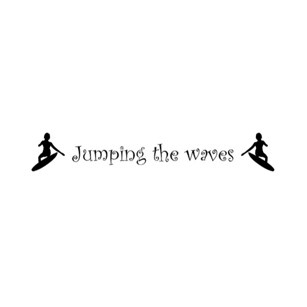 Jumping the waves Wall Decal